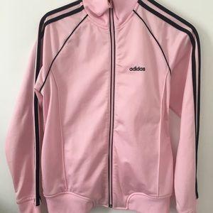 Adidas cowl neck track jacket